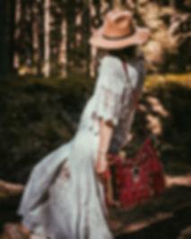 boho bride, white boho dress, all white outfi