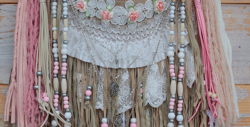 Peach Fringe Bag