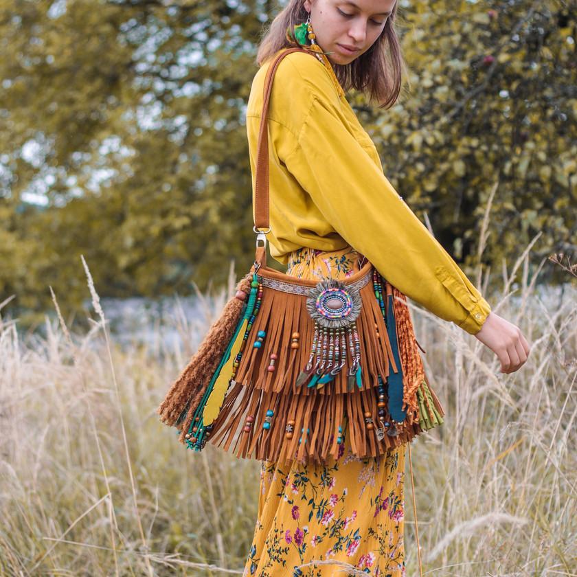 beaded bag, tribal style bag