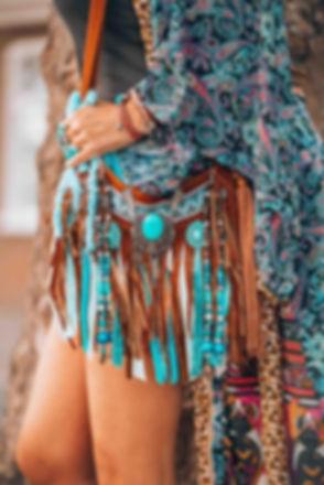 ibiza boho girl bag turquoise