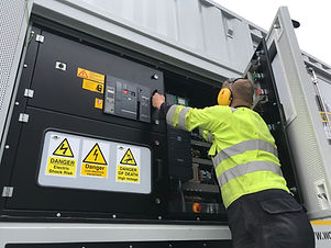 Temporary generators in Yorkshire Dynami