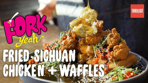 Fork Yeah- Spicy Sichuan Chicken & Waffles at Hard Time