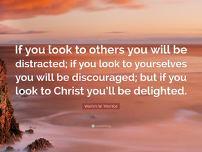 Don't Be Distracted or Discouraged