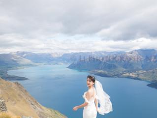 来新西兰拍有高度的婚纱照