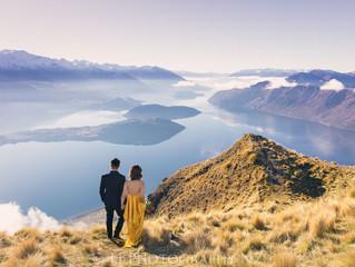 新西兰皇后镇直升机婚礼婚纱旅拍热门 – Roy's Peak 罗伊峰
