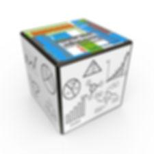 Cubo multidimensional emulando los diferentes servicios que componen un mismo concepto