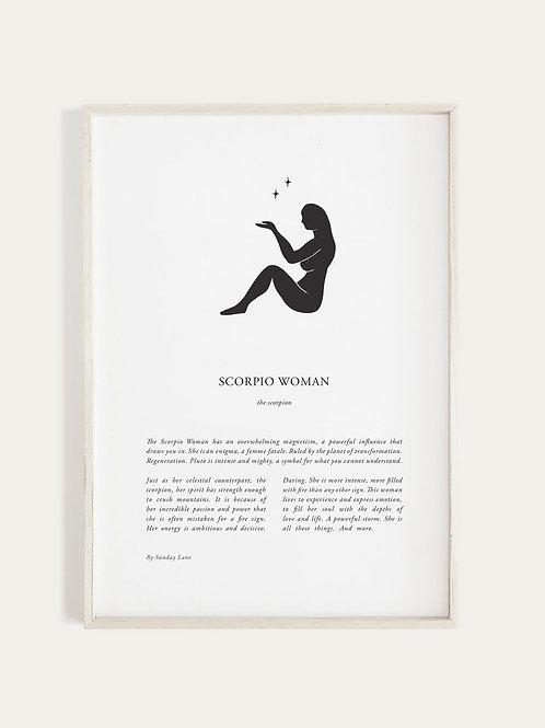 Sunday Lane Zodiac 03 Series - Scorpio Woman Print