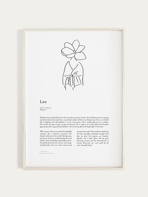 Sunday Lane Orchid Series - Leo Woman Print