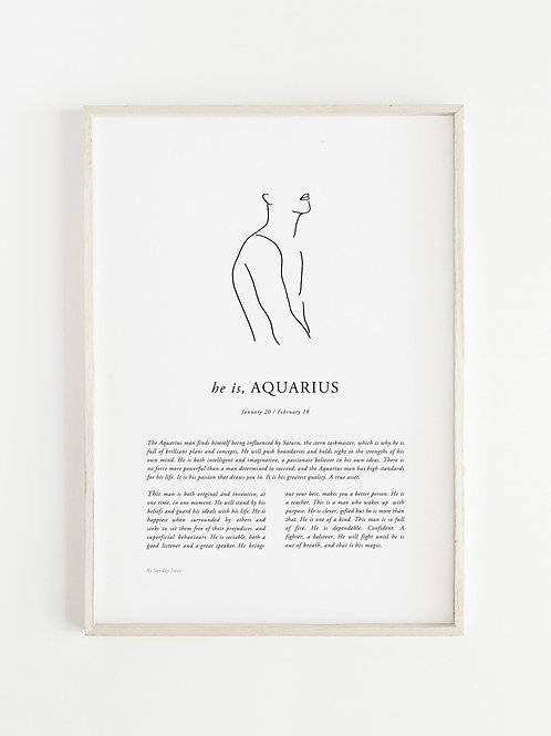Sunday Lane - Aquarius Man Print