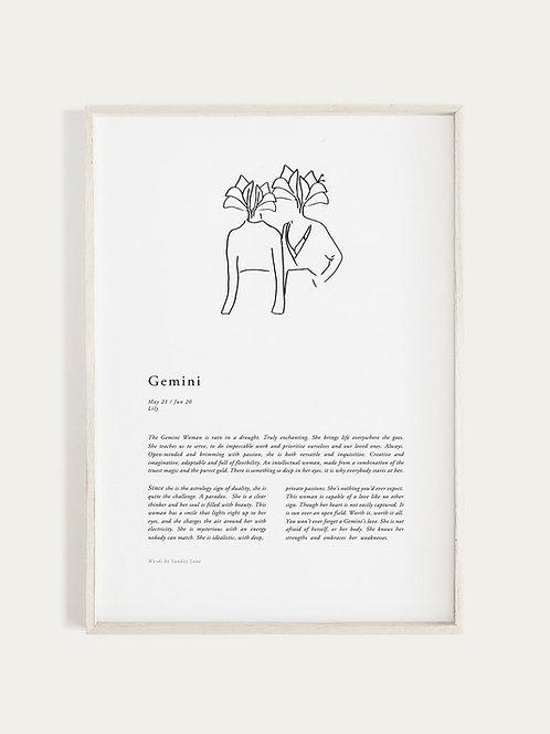 Sunday Lane Orchid Series - Gemini Woman Print