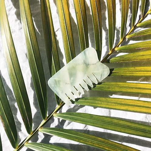 The Seeke - Jade Gua Sha Facial Sculpting Board + Comb