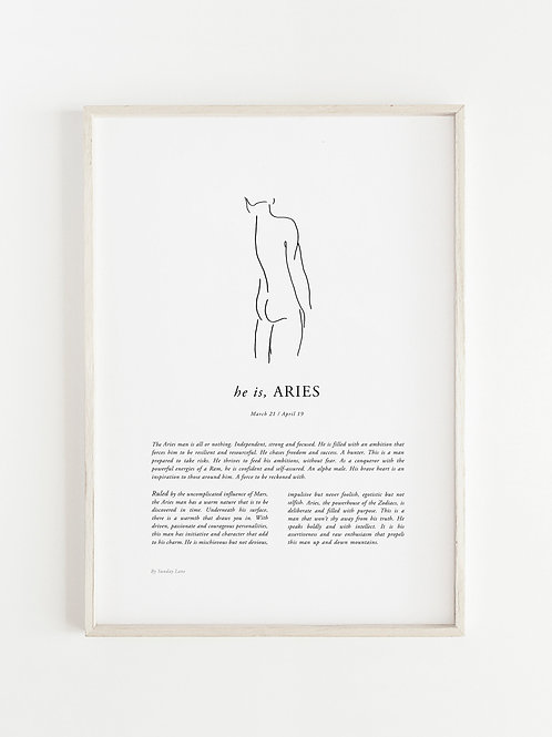 Sunday Lane - Aries Man Print