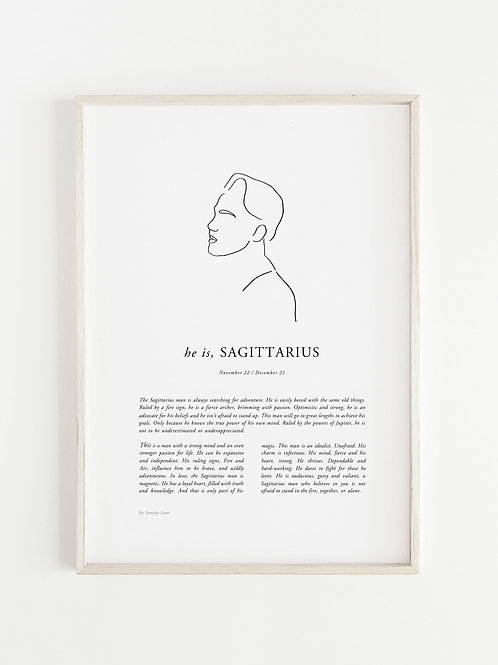 Sunday Lane - Sagittarius Man Print