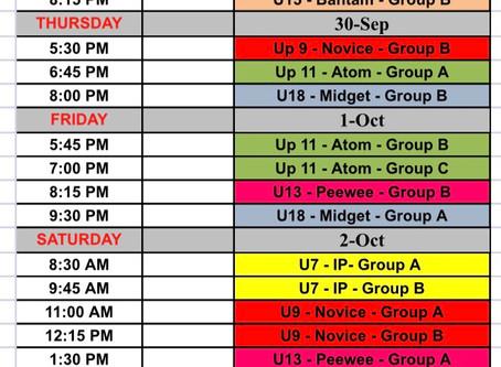 Phase 1 Schedule-week 2