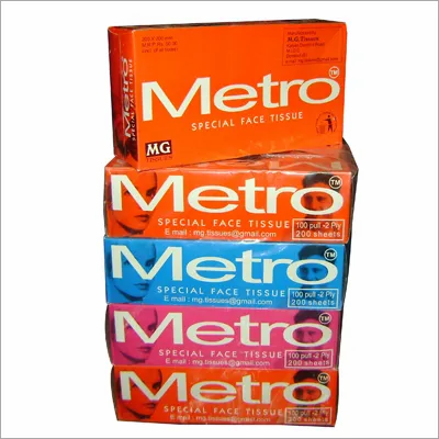 Face Tissues Metro Pack of 4