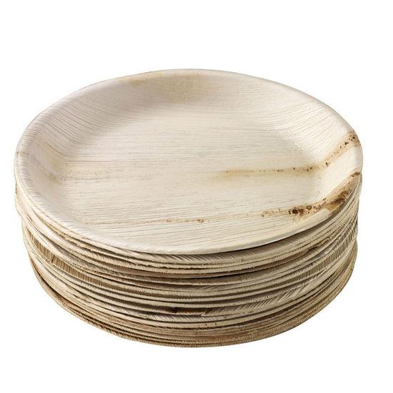 """Disposable Plate Areca Leaf 12""""  (10 pcs pckt)"""
