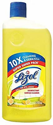Lizol Disinfectant Surface & Floor Cleaner Liquid, Citrus - 975 ml