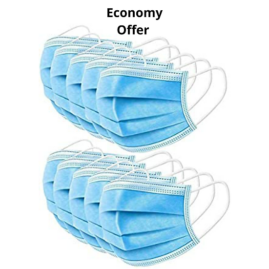 3 Ply-Surgical Mask  (10 pc pack)