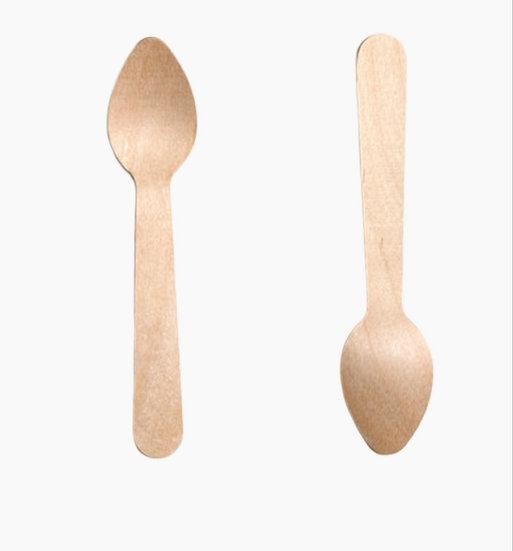"""Dinner Spoon-Birchwood 6""""  (100 pcs pckt)"""