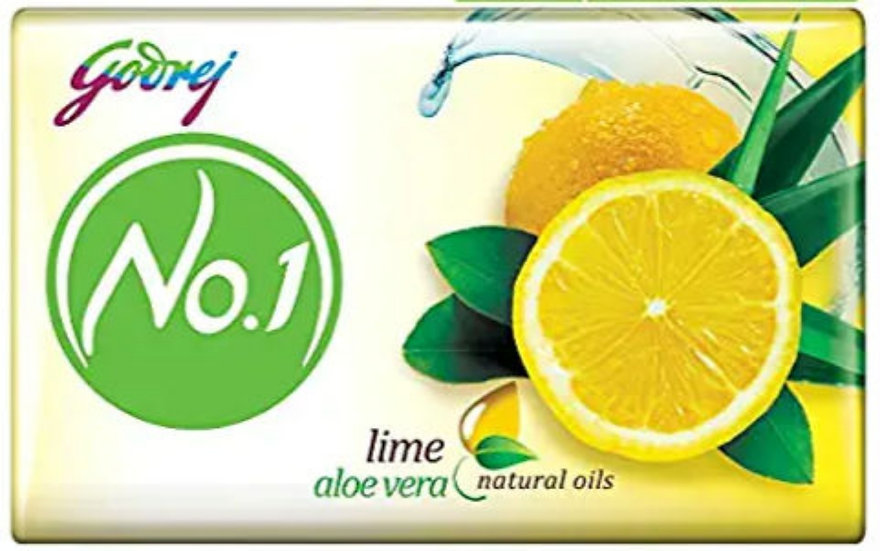 Godrej No.1 Bathing Soap - Lime & Aloe Vera, 100g (Pack of 5)