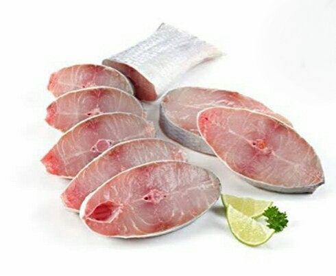 Fresh Ravas Fish Steaks. 1/2 kg Cut pack (Gross). To