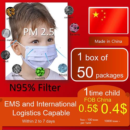 a child mask covid19 PM 2.5