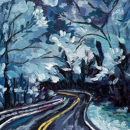 """After The Snowfall"" Original Acrylic Painting"