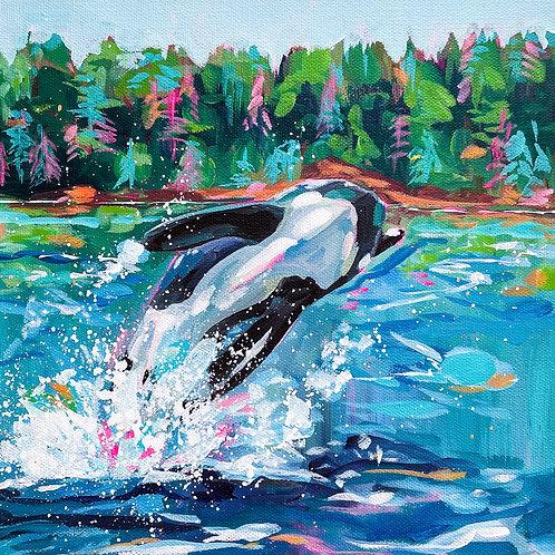 """Free Willy"" Original Acrylic Painting"