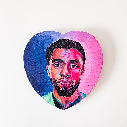 """""""Chadwick Boseman no. 2"""" Original Acrylic Painting"""