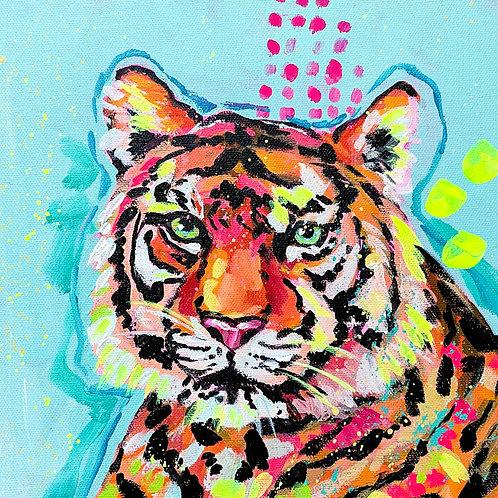 """Feline Flare"" Original Acrylic Painting"