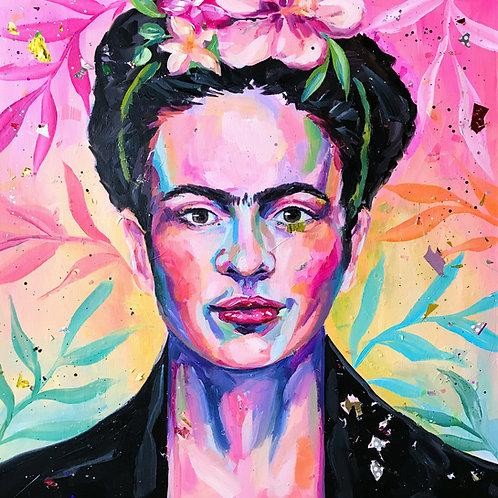 """Tropical Frida"" Original Acrylic Painting"