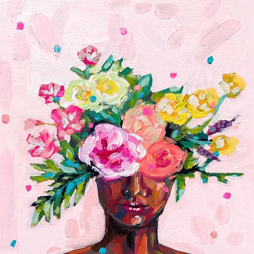 """She Was Full Of Big Dreams"" Original Acrylic Painting"