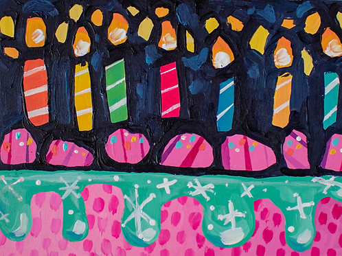 """Make A Wish"" Original Acrylic Painting"