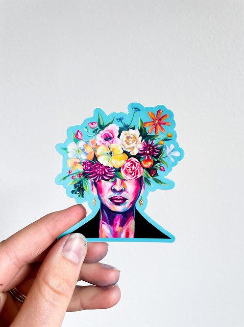 Frida In Bloom Sticker