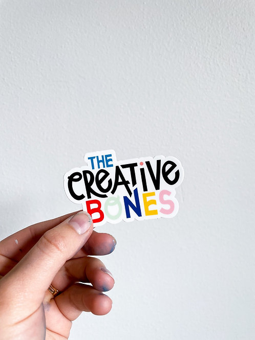 The Creative Bones Sticker