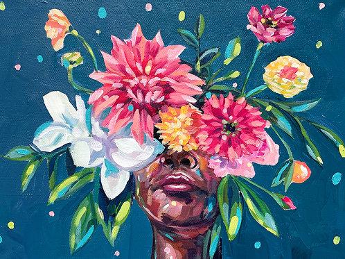"""She Was A Sunshine Seeker"" Original Acrylic Painting"