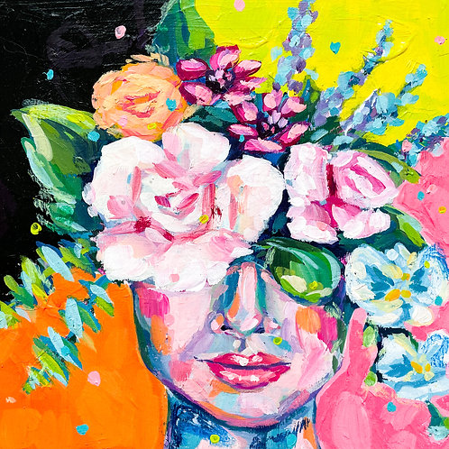 """""""She Was Colorful, Free, & Wild"""" Original Acrylic Painting"""