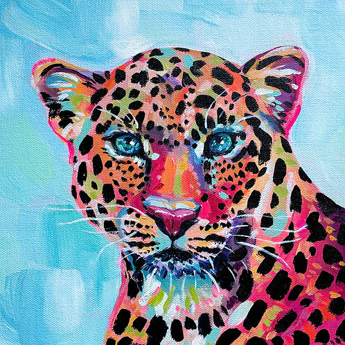 """""""Spotted Royalty"""" Original Acrylic Painting"""
