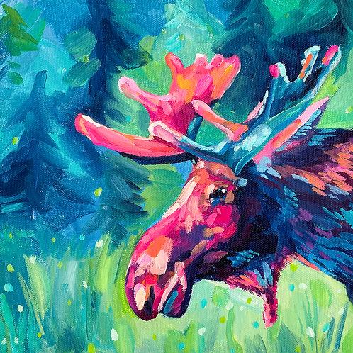 """Maggie The Moose"" Original Acrylic Painting"