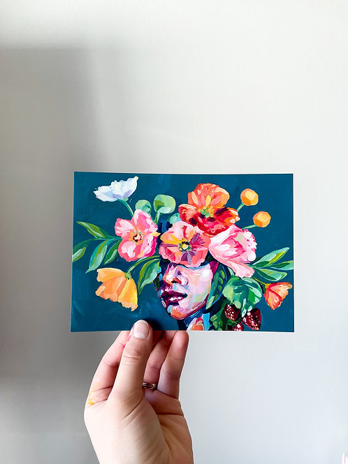 """She Was Kind & Sweet"" Postcard Print"