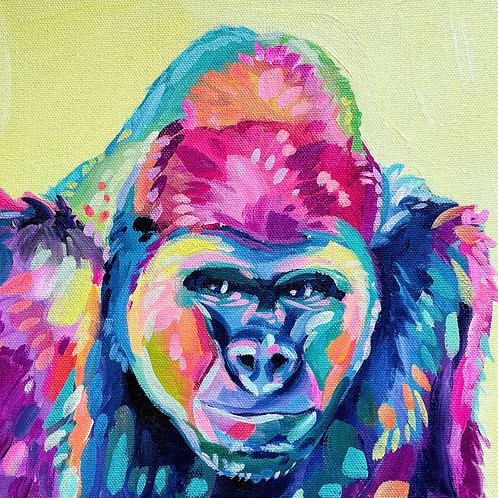 """Fierce But Friendly"" Original Acrylic Painting"