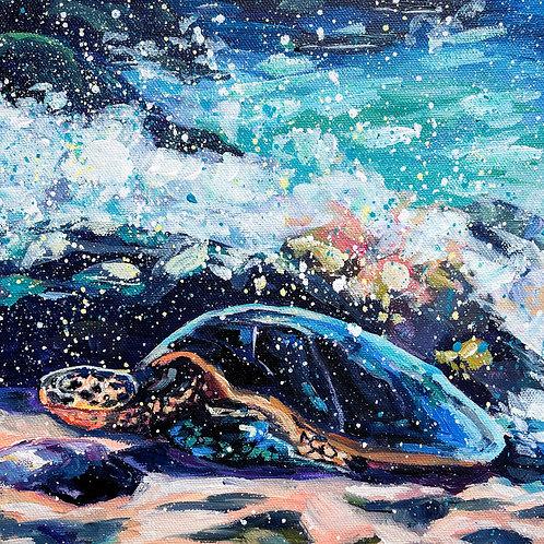 """Sunshine and Surf"" Original Acrylic Painting"