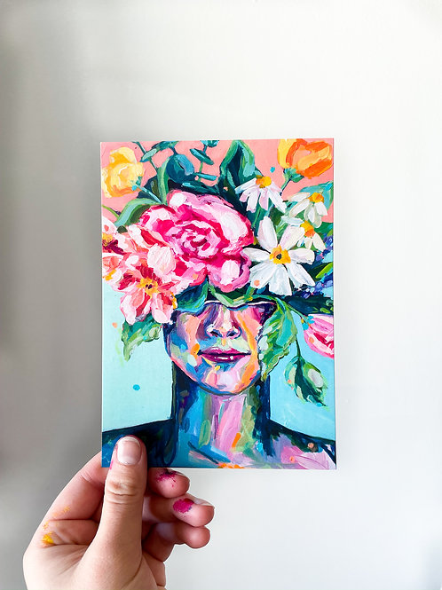 """""""She Was Inspired By Life"""" Postcard Print"""