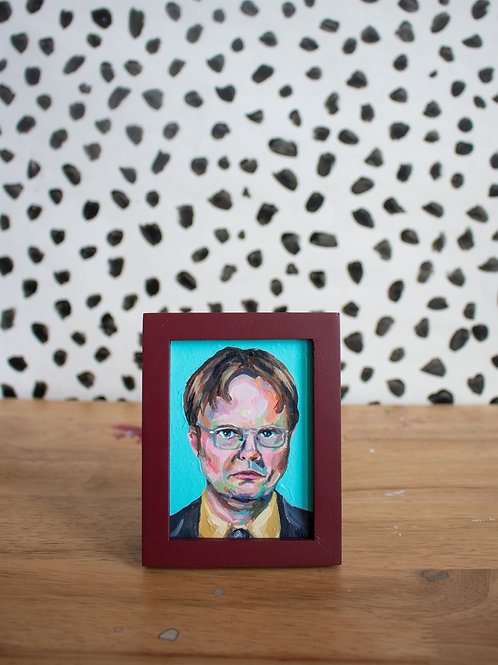 """Dwight K. Schrute"" Original Acrylic Painting"