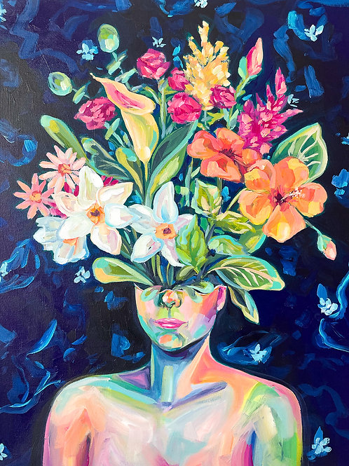 """Creativity In Bloom"" Original Acrylic Painting"