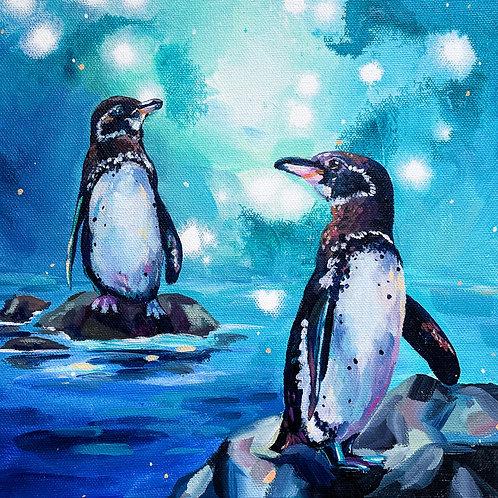 """""""Peter & Penelope"""" Original Acrylic Painting"""