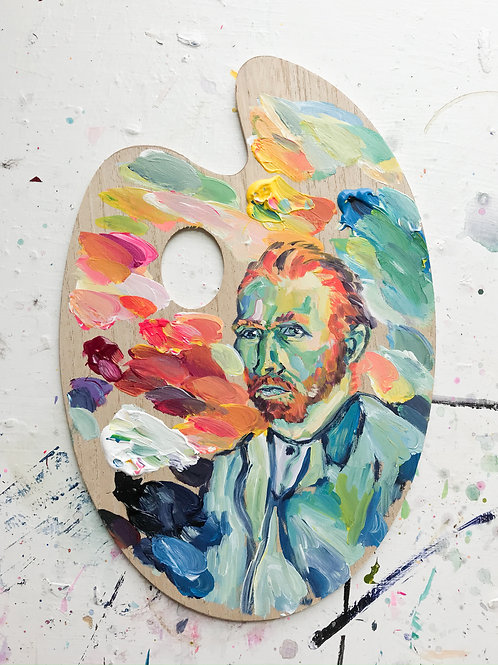 """""""Vincent Van Gogh no. 2"""" Paint Palette"""