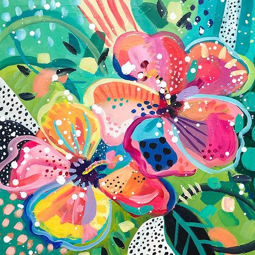 """Wishful Blooming"" Original Acrylic Painting"
