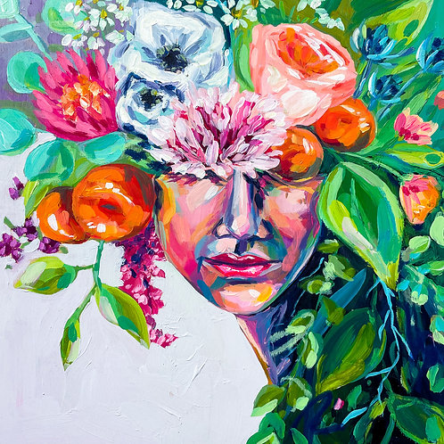 """""""She Was A Gentle Beauty"""" Original Acrylic Painting"""