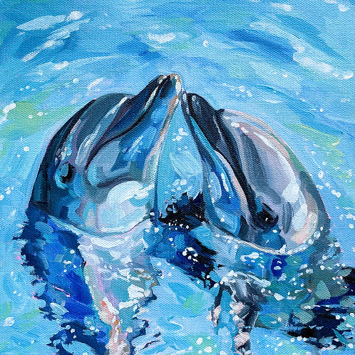 """Sea Kisses"" Original Acrylic Painting"